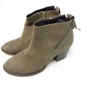Blondo Nivada waterproof leather booties taupe